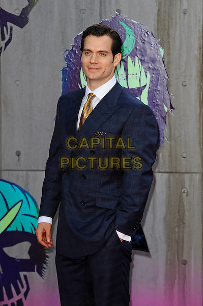 LONDON, ENGLAND - AUGUST 3: Henry Cavill attending the 'Suicide Squad' European Premiere at Odeon Cinema, Leicester Square on August 3, 2016 in London, England.<br /> CAP/MAR<br /> &copy;MAR/Capital Pictures