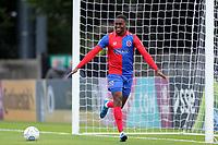 Fejiri Okenabirhie of Dagenham celebrates scoring the opening goal during Boreham Wood vs Dagenham & Redbridge, Vanarama National League Football at Meadow Park on 8th August 2017