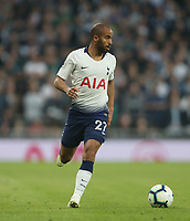 Tottenham Hotspur's Lucas Moura<br /> <br /> Photographer Rob Newell/CameraSport<br /> <br /> The Premier League - Tottenham Hotspur v Brighton and Hove Albion - Tuesday 23rd April 2019 - White Hart Lane - London<br /> <br /> World Copyright © 2019 CameraSport. All rights reserved. 43 Linden Ave. Countesthorpe. Leicester. England. LE8 5PG - Tel: +44 (0) 116 277 4147 - admin@camerasport.com - www.camerasport.com