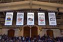 Countdown to Craziness and Blue vs White scrimmage.  2015 Nobel Prize in chemistry recipient, Paul Modrich, honored.  2012 Nobel laureate, Robert Lefkowitz also present.  Cameron Indoor Stadium.<br /> <br /> (Jon Gardiner/Duke Photography)