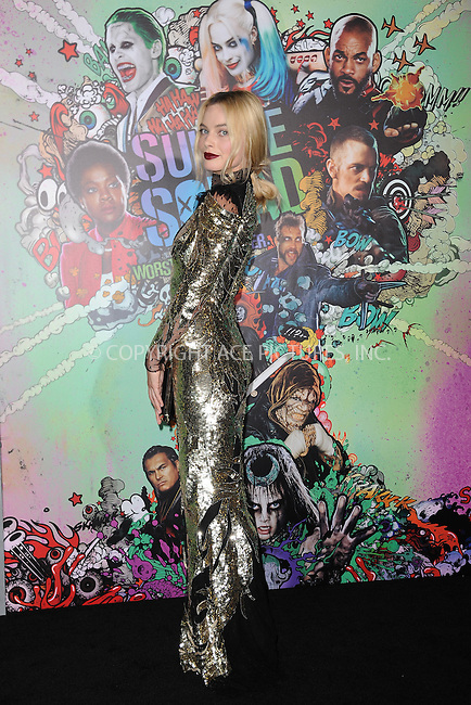 www.acepixs.com<br /> August 1, 2016  New York City<br /> <br /> Margot Robbie attending the world premiere of Warner Bros. Pictures and Atlas Entertainment&rsquo;s 'Suicide Squad' at the Beacon Theatre on August 1, 2016 in New York City.<br /> <br /> <br /> Credit: Kristin Callahan/ACE Pictures<br /> <br /> <br /> Tel: 646 769 0430<br /> Email: info@acepixs.com