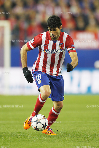 Diego Costa (Atletico), MARCH 11, 2014 - Football / Soccer : UEFA Champions League match between Atletico de Madrid and AC Milan at the Vicente Calderon Stadium in Madrid, Spain. (Photo by AFLO) [3604]