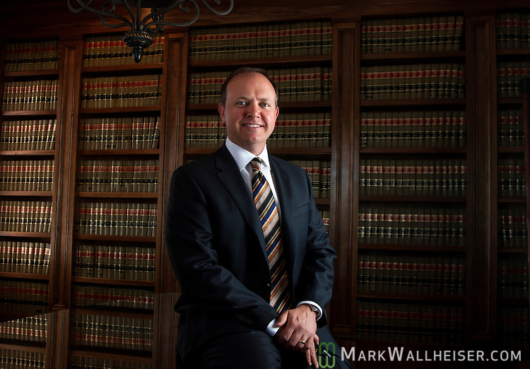 Attorney B. Shannon Saunders at his office in Marianna, Florida March 19, 2014.