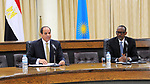 Egyptian President Abdel Fattah al-Sisi meets with Rwanda President, Paul Kagame in Kigali on August 15, 2017, shortly after his arrival for a visit. The Egyptian President is paying a two day visit to Rwanda. Photo by Egyptian President Office.