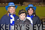 Aileen McCArthy, Declan McCarthy and Catrionna O'Connell Castleisland Desmonds fans at the Celebrity Bainisteoir final at Parnell park on Friday night.