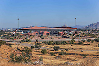 Sonora Stadium, located between the west of Hermosillo and its desert. <br /> <br /> Leaving the old Hector Espino Stadium and reinstall the statue, this sports complex is home of the Naranjeros new equipment of the Mexican Pacific League (PML) which has 16 championships (more Won). Have played here in January 2015 Caribbean Series, League of the Coast, Northern Sonora League Championship Series and National Winter. It also hosts baseball team Devils of Hermosillo Mexico's Northern League and temporary home of the football team Maroons Ascent Sonora MX in the Apertura 2015.<br />  © Norte Photo