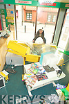 Paudie Kennelly of Kennelly's Images Ashe Streert, Tralee who doing a clean up after a break in on his premises early on Sunday morning...