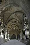 Arched ceilings in the Castle of the King, ancient cathedral, Lleida. Catolonia. Spain.