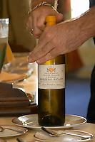 Restaurant Le Clos du Roy. Chateau Hostens-Picant Cuvee des Demoiselles, Sainte-Foy. Saint Emilion, Bordeaux, France