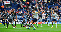 Preston North End's Josh Earl has a shot at goal, which ended up being put out for a corner<br /> <br /> Photographer Chris Vaughan/CameraSport<br /> <br /> The EFL Sky Bet Championship - Preston North End v Reading - Saturday 15th September 2018 - Deepdale - Preston<br /> <br /> World Copyright &copy; 2018 CameraSport. All rights reserved. 43 Linden Ave. Countesthorpe. Leicester. England. LE8 5PG - Tel: +44 (0) 116 277 4147 - admin@camerasport.com - www.camerasport.com