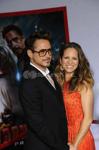 SMG_Robert Downey Jr_Susan Downey_NY1_LA_Iron Man 3_042413_70.JPG<br /> <br /> HOLLYWOOD, CA - APRIL 24:  Robert Downey Jr_Susan Downey attends the premiere of Walt Disney Pictures' 'Iron Man 3' at the El Capitan Theatre on April 24, 2013 in Hollywood, California.      <br /> <br /> People:  Robert Downey Jr_Susan Downey<br /> <br /> Transmission Ref:  NY1_LA<br /> <br /> Hoo-Me.com / MediaPunch