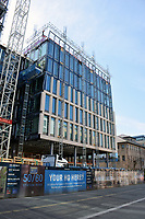 New office construction by Cambridge Station, UK March 2018