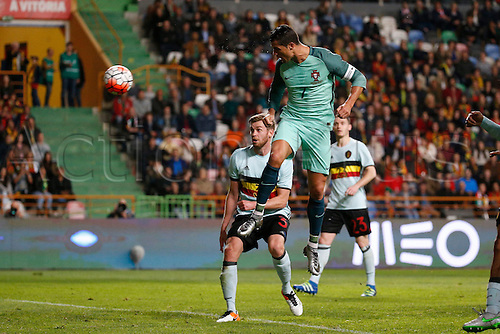 29.03.2016. Leiria, Portugal.  Portugal's Cristiano Ronaldo scoes his goal during the FIFA international friendly match between Portugal and Belgium as part of the preparation of the Belgian national soccer team prior to the UEFA EURO 2016  in Leiria, Portugal.
