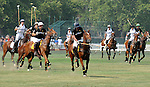 Polo players at the 3rd Annual Veuve Clicquot Polo Classic on Governors Island on June 27, 2010.