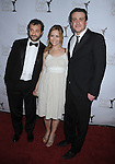 CENTURY CITY, CA. - February 20: Judd Apatow, Leslie Mann and Jason Segel arrive at the 2010 Writers Guild Awards at the Hyatt Regency Century Plaza Hotel on February 20, 2010 in Los Angeles, California.