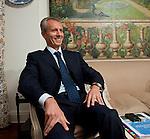 Brussels-Belgium - September 24, 2012 -- KHOROSHKOVSKYI Valeriy Ivanovych (Khoroshkovsky), First Vice Prime Minister of Ukraine and owner of U.A. Inter Media Group (holding majority shares in various Ukrainian TV channels); during an interview in a Brussels-based hotel -- Photo: © HorstWagner.eu