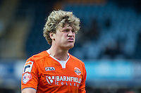 An unhappy Cameron McGeehan of Luton Town walks off at HT during the Sky Bet League 2 match between Wycombe Wanderers and Luton Town at Adams Park, High Wycombe, England on 6 February 2016. Photo by Andy Rowland.