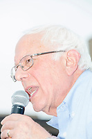 Democratic presidential candidate Bernie Sanders speaks at the Political Soapbox at the Iowa State Fair in Des, Moines, Iowa, on Sun., Aug. 11, 2019.