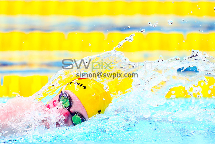 Picture by Alex Whitehead/SWpix.com - 27/04/2014 - Swimming - The National Arena Swimming League - Cardiff International Pool, Cardiff, Wales - City of Salford swimmer in Girls 9-11 200m Medley team.
