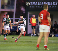 Aaron Penberthy of Ealing Trailfinders fails to convert his penalty during the Greene King IPA Championship match between Ealing Trailfinders and London Welsh RFC at Castle Bar , West Ealing , England  on 26 November 2016. Photo by David Horn / PRiME Media Images