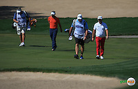 Andy Sullivan (ENG) playing with Joost Luiten (NED) during the Final Round of the 2016 Omega Dubai Desert Classic, played on the Emirates Golf Club, Dubai, United Arab Emirates.  07/02/2016. Picture: Golffile | David Lloyd<br /> <br /> All photos usage must carry mandatory copyright credit (&copy; Golffile | David Lloyd)