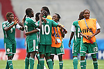 17.07.2010,  Augsburg, GER, FIFA U20 Womens Worldcup, Nigeria vs Japan,  im Bild Freude nach dem Spiel, Foto: nph /  Straubmeier