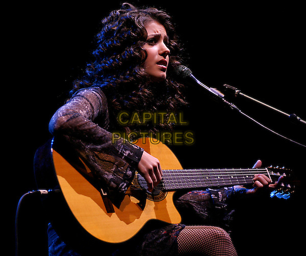 KATIE MELUA.Performs live in concert at the NIA in Birmingham, .18th October 2004..portrait headshot profile on stage gig music.Ref: CAP/SR.www.capitalpictures.com.©Stephen Rose/Capital Pictures.