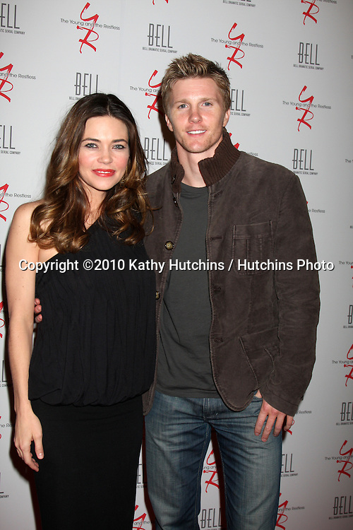 Amelia Heinle & Thad Luckinbill.arrivng at The Young & The Restless 37th Anniversary Dinner.Via Allorro.Beverly Hills, CA.March 9, 2010.©2010 Kathy Hutchins / Hutchins Photo....