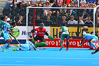 Talwinder Singh of India taps home to make the score 3-0 during the Hockey World League Semi-Final match between Pakistan and India at the Olympic Park, London, England on 18 June 2017. Photo by Steve McCarthy.