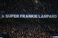 Super Frankie Lampard banner which is on permanent display in the middle of the Matthew Harding Stand during Chelsea vs Derby County, Caraboa Cup Football at Stamford Bridge on 31st October 2018