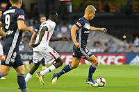 Melbourne, December 1, 2018 - Keisuke Honda of Melbourne Victory in action in the round six match of the A-League between Melbourne Victory and Western Sydney Wanderers at Marvel Stadium, Melbourne, Australia.