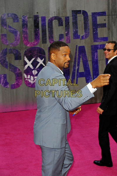 LONDON, ENGLAND - AUGUST 3: Will Smith attending the 'Suicide Squad' European Premiere at Odeon Cinema, Leicester Square on August 3, 2016 in London, England.<br /> CAP/MAR<br /> &copy;MAR/Capital Pictures