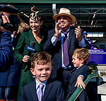 November 3, 2018 : Connections cheer in the winner's circle during a Breeders' Cup race on Breeders Cup World Championships Saturday at Churchill Downs on November 3, 2018 in Louisville, Kentucky. Scott Serio/Eclipse Sportswire/CSM