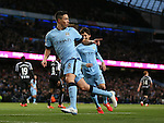 Samir Nasri of Manchester City celebrates scoring his goal - Barclays Premier League - Manchester City vs Newcastle Utd - Etihad Stadium - Manchester - England - 21st February 2015 - Picture Simon Bellis/Sportimage