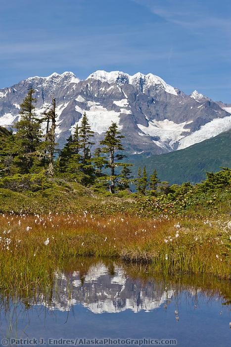 Mount Muir of the Chugach mountains, Chugach National Forest, Prince William Sound, Alaska.