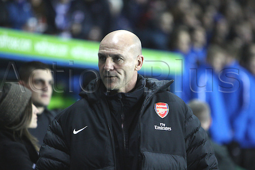 17.12.2012. Reading, England. Steve Bould Assistant Manager of Arsenal during the Premier League match between Reading and Arsenal from Madejski Stadium.