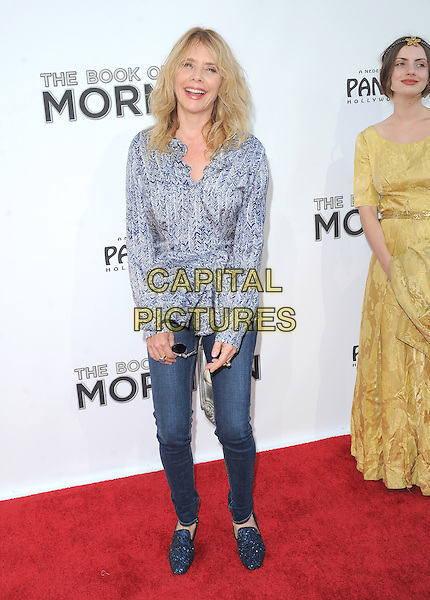 "Rosanna Arquette.""The Book of Mormon"" Hollywood Opening night Held At The Pantages theatre, Hollywood, California, USA..September 12th, 2012.full length grey gray blue pattern top jeans denim loafers shoes .CAP/DVS.©DVS/Capital Pictures."