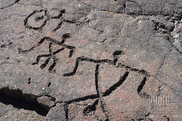 Petroglyphs at Waikoloa, Big Island.