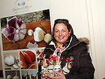 Marita Collier, Drummond House Garlic at the Cottage Market, St Peters.<br /> <br /> Photo - Jenny Matthews