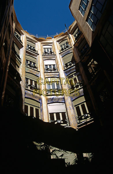 Atrium of La Pedrera, Casa Mila, Barcelona, Spain.