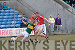 Kerry's Johnny Buckley and Cork's l-r: J. P. Murphy and Eoin Keane.