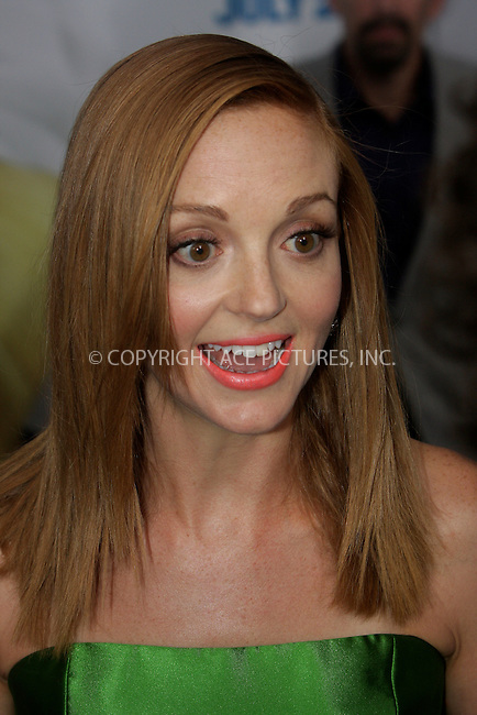 WWW.ACEPIXS.COM . . . . .  ....July 24 2011, New York City....Jayma Mays arriving at the premiere of 'The Smurfs' at the Ziegfeld Theater on July 24, 2011 in New York City. ....Please byline: NANCY RIVERA- ACEPIXS.COM.... *** ***..Ace Pictures, Inc:  ..Tel: 646 769 0430..e-mail: info@acepixs.com..web: http://www.acepixs.com