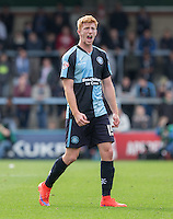 Ryan Sellers of Wycombe Wanderers calls for the ball during the Sky Bet League 2 match between Wycombe Wanderers and Hartlepool United at Adams Park, High Wycombe, England on 5 September 2015. Photo by Andy Rowland.