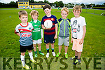 l-r  Liam Harmon, Liam Lenihan, Shayden Lyne, Kaylan Brown and Colin Buckley at the Cúl Camps, Milltown/ Castlemaine on Monday