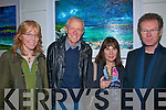 artist Michael Flaherty pictured at the opening of Michael's art exhibition in the Greenlane Gallery in Dingle at the weekend with ????