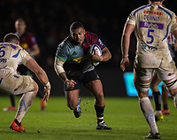 Harlequins' Kyle Sinckler in action during todays match<br /> <br /> Photographer Bob Bradford/CameraSport<br /> <br /> Gallagher Premiership Round 9 - Harlequins v Exeter Chiefs - Friday 30th November 2018 - Twickenham Stoop - London<br /> <br /> World Copyright &copy; 2018 CameraSport. All rights reserved. 43 Linden Ave. Countesthorpe. Leicester. England. LE8 5PG - Tel: +44 (0) 116 277 4147 - admin@camerasport.com - www.camerasport.com