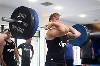Jack Walker of Bath Rugby in the gym. Bath Rugby pre-season training on July 28, 2017 at Farleigh House in Bath, England. Photo by: Patrick Khachfe / Onside Images