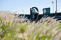 Sebastian Heisele (GER) on the 14th tee during the final round of  the Saudi International powered by Softbank Investment Advisers, Royal Greens G&CC, King Abdullah Economic City,  Saudi Arabia. 02/02/2020<br /> Picture: Golffile | Fran Caffrey<br /> <br /> <br /> All photo usage must carry mandatory copyright credit (© Golffile | Fran Caffrey)
