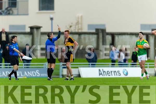 Johnny Buckley Dr Crokes gets sent off against South Kerry in the Senior County Football Final in Austin Stack Park on Sunday