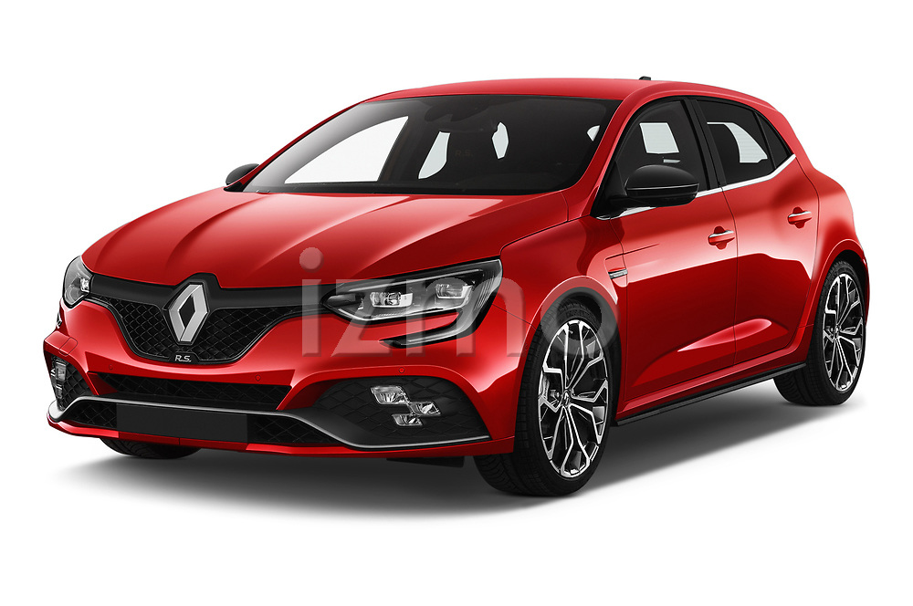 2018 Renault Megane R.S. base 5 Door Hatchback angular front stock photos of front three quarter view